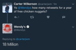 carter wilkerson 18 million chicken nuggets tweet