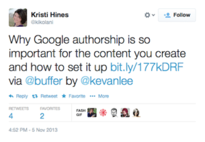 google authorship tweet question